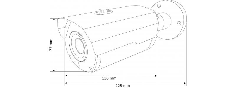 NEOSTAR 5.0MP EXIR TVI Kamera, 2.8-12mm Motorzoom, Autofokus, Nachtsicht 40m, Smart-IR, 12V DC, IP67