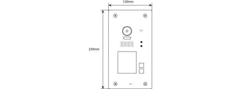 BALTER EVIDA White RFID Türstation für 2 Teilnehmer, 2-Draht BUS, 170° Ultra-Weitwinkelkamera