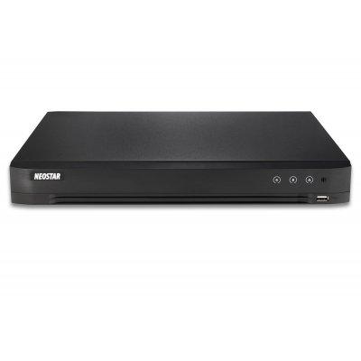 NEOSTAR 4-Kanal TVI / AHD / CVI + 4-Kanal IP Videorekorder, H.265+/H.264+, TVI / IP, Audio, Alarm, CMS, 12V DC