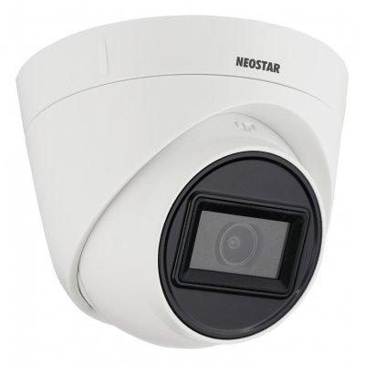 NEOSTAR 8.0MP 4K EXIR TVI / CVI / AHD Dome-Kamera, 3840x2160p, 2.8mm Weitwinkel, Nachtsicht 30m, D-WDR 105dB, 12V DC, IP67
