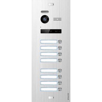 BALTER EVO Silver Türstation für 8 Teilnehmer, 2-Draht BUS Technologie (Video / Audio / Strom), 150° Weitwinkelkamera