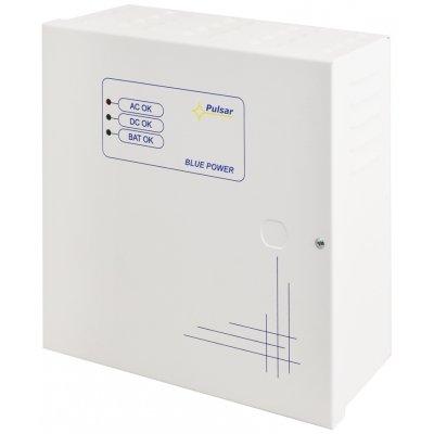 Impuls-Puffernetzteilkasten mit technischen Ausgängen und Platz für Akku 7Ah/12V, Überlastschutz, Metallgehäuse