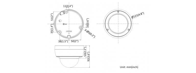 NEOSTAR 8.0MP EXIR IP Dome-Kamera, 2.8mm, 3840x2160p, Nachtsicht 30m, WDR, H.265+, Mikrofon, PoE/12V DC, IK10, IP67