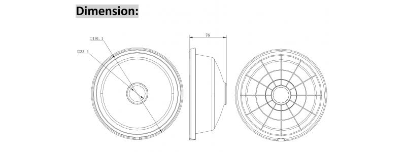 NEOSTAR Regenschutz-Abdeckung für mini Dome-Kameras, Aluminium, 191.1 x 76 mm