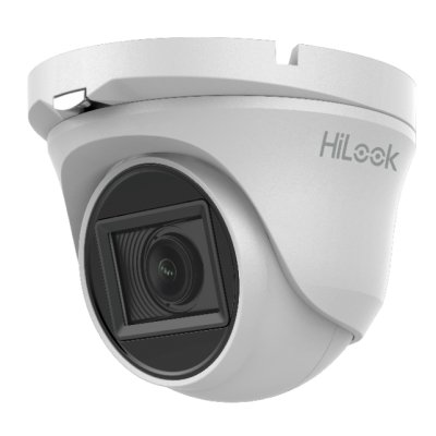 HiLook 2.0MP Eyeball EXIR TVI Dome-Kamera, 2.7-13.5mm Motorzoom, Nachtsicht 70m, WDR 120dB, Smart-IR, 12V DC, IP66