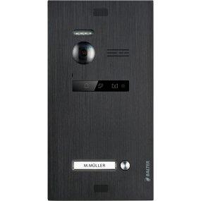 BALTER EVO Black Türstation für 1 Teilnehmer, 2-Draht BUS Technologie (Video / Audio / Strom), 150° Weitwinkelkamera