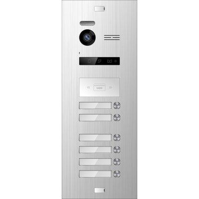 BALTER EVO Silver Türstation für 6 Teilnehmer, 2-Draht BUS Technologie (Video / Audio / Strom), 150° Weitwinkelkamera, RFID