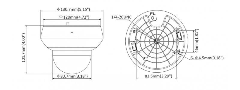 NEOSTAR 4.0MP WiFi Infrarot IP Mini-PTZ-Kamera, 4X Zoom, Nachtsicht 20m, H.265+, WDR, PoE/12V DC, IK10, IP66