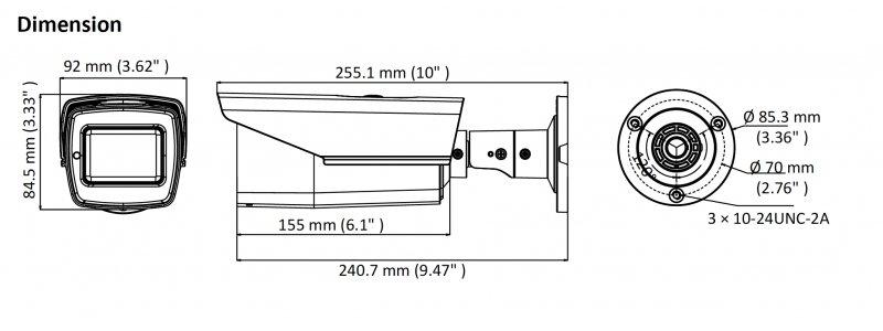 NEOSTAR 5.0MP EXIR TVI Außenkamera, 2.7-13.5mm Motorzoom, Auto-Fokus, Nachtsicht 80m, WDR, 12V DC / 24V AC, IP67