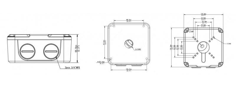 BALTER Anschlussdose / Junction Box für Außenkameras mit Motorzoom-Vario-Objektiv