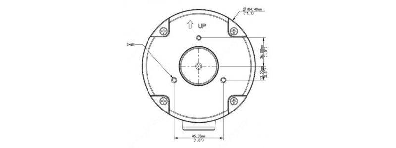 BALTER X Kleine Anschlussdose / Mini Junction Box für Außenkameras mit Fixbrennweite