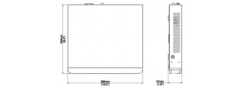 BALTER X 4-Kanal PoE Netzwerk Rekorder, 4K UHD, H.265, Videoanalyse, HDMI 4K, Cloud P2P