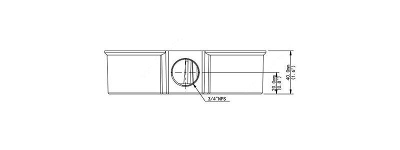 BALTER X Anschlussdose Fisheye Kameras, D149.2 x 40 mm, Wand- und Deckenmontage, Aluminium