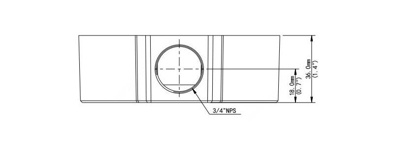 BALTER X Anschlussdose für mini Dome-Kameras mit Fixbrennweite, D106.6 x 36 mm, Weiß