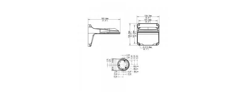 BALTER X Wandhalterung für mini Dome-Kameras, Aluminium, Weiß