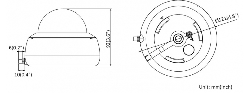 NEOSTAR 4.0MP IP WiFi Dome-Kamera, 2.8mm, 2560x1440p, Nachtsicht 30m, D-WDR, H.265+ / H.264+, Mikrofon, 12V DC, IP66