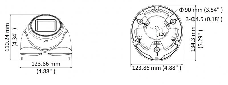 NEOSTAR 8.0MP Eyeball-Kamera, 2.7-13.5mm Motorzoom, Auto-Fokus, Nachtsicht 60m, WDR 130dB, 12V DC / 24V AC, IP67