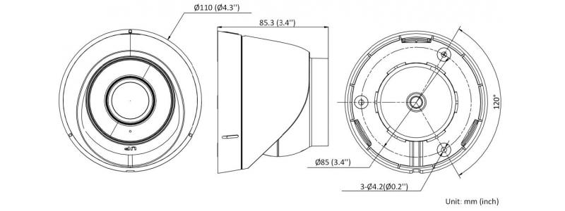 NEOSTAR 4.0MP EXIR IP Dome-Kamera, 2.8mm, 2560x1440p, Nachtsicht 30m, WDR 120dB, H.265+, PoE/12V DC, IP67