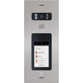 "InfinitePlay IP Video-Türstation, 4.3"" Touchscreen, HD Kamera, Weißlicht-LEDs, PoE"
