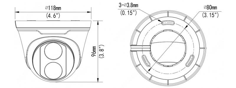 BALTER X ECO IP Eyeball Kamera mit 8.0MP, 2.8mm, Nachtsicht 30m, WDR 120dB, VCA, Privatzonen, PoE/12V DC, IP67