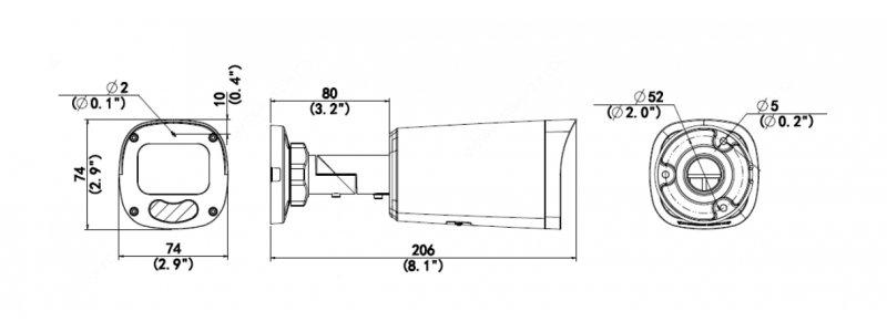 BALTER X ECO IP Außenkamera mit 4.0MP, 2.8-12mm Motorzoom, AutoFocus, Nachtsicht 50m, WDR 120dB, IP67