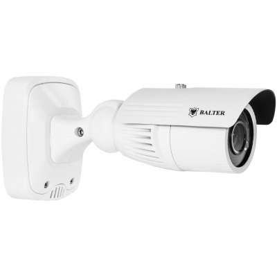 Analoge 750TVL Außenkamera, IR-LEDs, 2.8-12mm Objektiv, Junction Box, Weiß, 12/24V