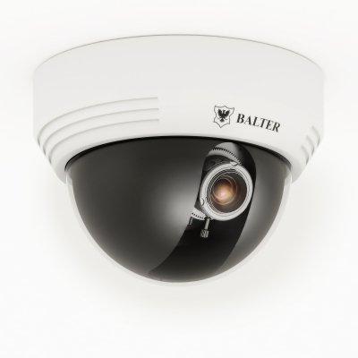 Analoge 750TVL Dome-Kamera, IR-LEDs, 2.8-12mm Objektiv, Weiß, 12V