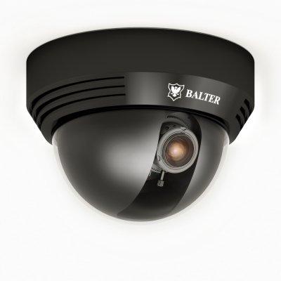 Analoge 750TVL Dome-Kamera, IR-LEDs, 2.8-12mm Objektiv, Schwarz, 12V