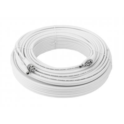 30 Meter Kombikabel (Video/Strom) für Analog / HD-SDI / HD-TVI / Analog HD, RG59, 75 Ohm