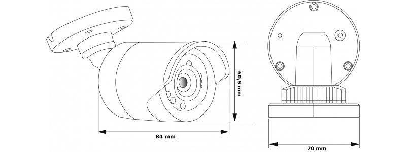 4MP IP Außenkamera, 4mm, 2688x1520p, Nachtsicht 30m, WDR, VCA, PoE/12V, IP66