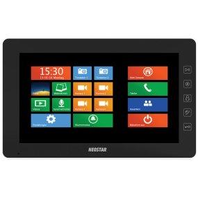 "10"" Touch-Screen Videostation, 4-Draht, Telefonmodul, SD-Slot, Schwarz"