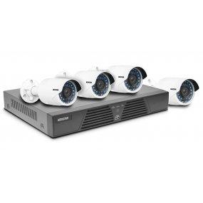 NEOSTAR IP-SET mit 4-Kanal PoE NVR, 1920x1080p, HDMI, 12V DC und 4x 2.0MP Infrarot Außenkameras, PoE, 12V DC