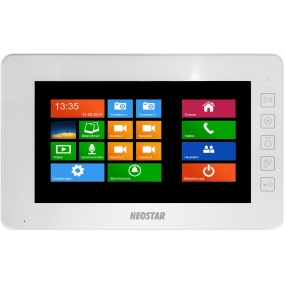 "7"" Touch-Screen Videostation, 4-Draht, SD-Slot, Weiß"