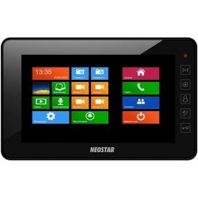 "7"" Touch-Screen Videostation, 4-Draht, SD-Slot, Schwarz"