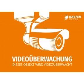 Warnschild Videoüberwachung, 148 x 104 mm