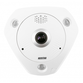 NEOSTAR 6.0MP, 360° Panorama IP Dome-Kamera, 3072x2048p, Nachtsicht 15m, D-WDR, H.264, VCA, PoE/12V DC, IP66