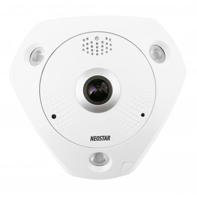 NEOSTAR 12MP, 360° Panorama IP Dome-Kamera, 4000x3072p, Nachtsicht 15m, D-WDR, H.264, VCA, PoE/12V DC, IP66