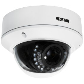 NEOSTAR 2.0MP Infrarot IP Dome-Kamera, 2.7-12mm Motorzoom, 1920x1080p, Nachtsicht 30m, H.264, VCA, PoE/12V DC, IP66