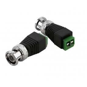 NEOSTAR Adapter von BNC-Stecker (Koaxialkabel) auf 2-Draht-Kabel