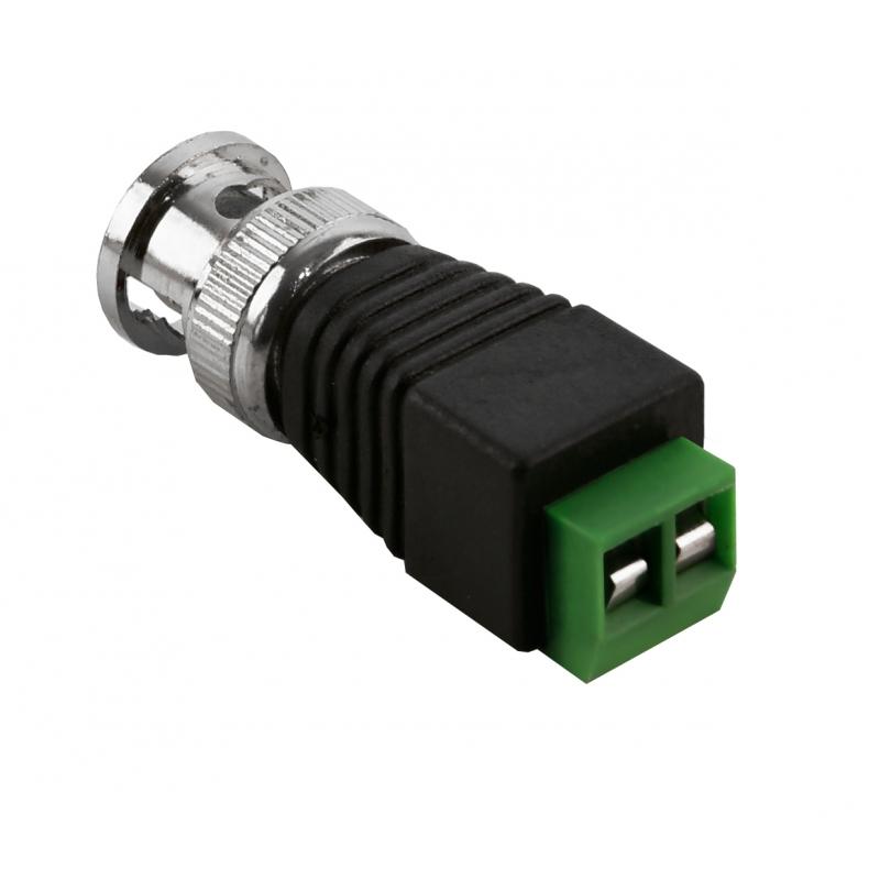 NEOSTAR Adapter von BNC-Stecker (Koaxialkabel) auf 2-Draht-Kabel ...