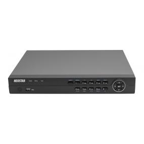 4-Kanal Hybrid HD-TVI/Analog Videorekorder, 2 IP Kanäle, 100B/S bei 1080p, H.264, 1920 x 1080p, Audio, Dual-Stream, CMS, 12V DC