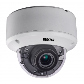 NEOSTAR 3.0MP Vandalensichere EXIR HD-TVI Dome-Kamera, 2.8-12mm Motorzoom, Nachtsicht 40m, WDR 120dB, Smart-IR, 12V DC, IP66