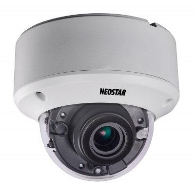 NEOSTAR 3.0MP Vandalensichere EXIR HD-TVI Dome-Kamera, 2.8-12mm Motorzoom, Nachtsicht 40m, WDR 120dB, Smart-IR, 12V DC, IP66