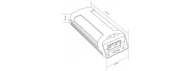 Gigabit PoE Plus Injector, 30 Watt Leistung, 10/100/1000Mbps, Überspannungsschutz