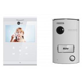 """NeoLight 2-Draht Video-Türsprechanlage mit 4.3"""" Ultra-Slim Monitor + Türstation mit 120° Weitwinkel-Kamera, Nachtsicht, Türöffn"""