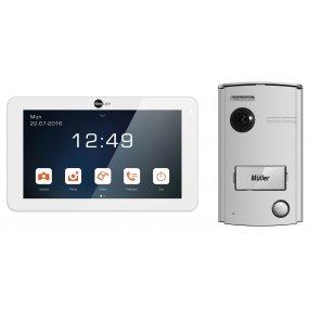 """NeoLight 2-Draht Video-Türsprechanlage mit 7"""" Monitor + Türstation mit 120° Kamera, Nachtsicht"""