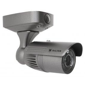 BALTER 4.0MP IP Außenkamera, PowerLEDs, 2.8-12mm Motorzoom, Autofokus, 2688x1520p, Nachts. 40m, WDR, H.265, PoE/12V DC, IP66