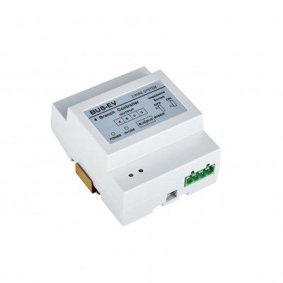 BALTER 4-fach Verteiler, 2-Draht BUS Technologie, BUS-Verteiler für Monitore und Türstationen