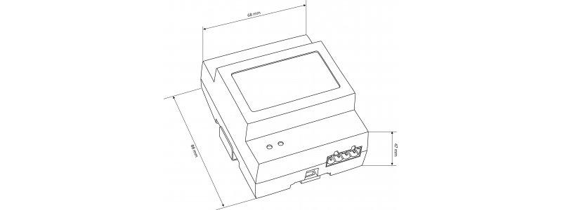 BALTER Türöffner-Modul, 2-Draht BUS Technologie, Relaiskontakt für ein Türschloss / Lichtsteuerung, einstellbare Öffnungsdauer