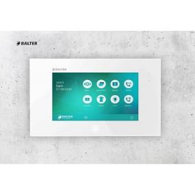 "BALTER JUNO 7 "" Videostation, Touchscreen Bildschirm, 2-Draht BUS Technologie, Plexiglas, Interkom, microSD-Slot, Weiß"